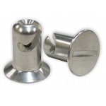 "Behrents DZUS Button, 7/16"" x 0.500"", Aluminium, Flush Head"