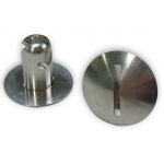 "Behrents DZUS Button, 7/16"" x 0.450"", Aluminium"