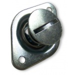 "Behrents DZUS Button, 7/16"" x 0.500"", Steel, Self Eject"