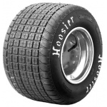 "Hoosier Midget Left Rear Tyre, 76"" x 10"" x 13"", Small Crossblock"