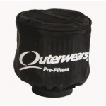 "Outerwear for 3"" dia valve cover/engine breather with no top, Black"